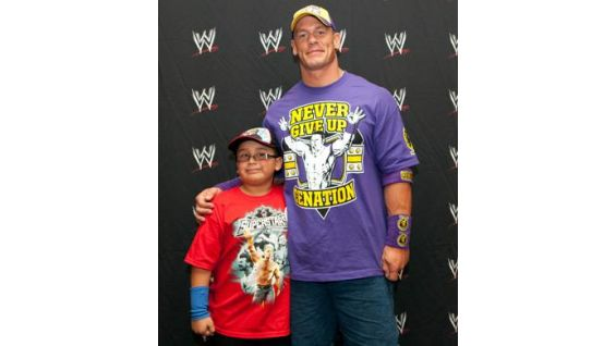 Julian, 8, is also from the Make-A-Wish Foundation.