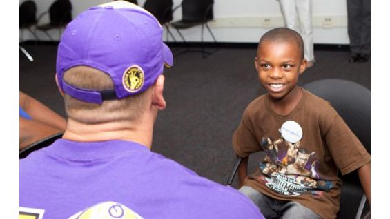 Ronald, 8, is from the Make-A-Wish Foundation.