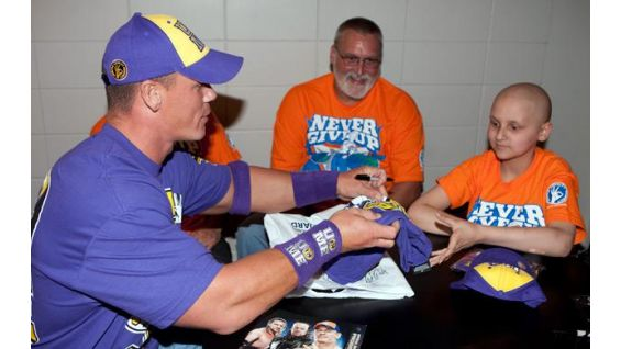 John Cena meets Lee Thompson of Jason's Dreams for Kids.