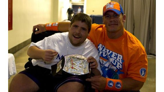 Circle of champions john cena and randy orton meet honorees fall thomas macey 15 meets john cena in lexington ky m4hsunfo