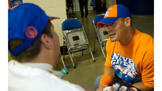Cena talks all things WWE with the teen from the Make-A-Wish Foundation.