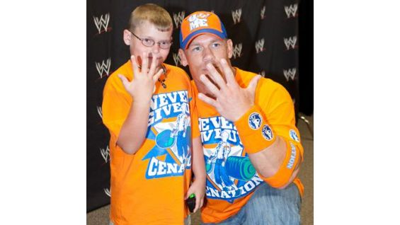 Colton, 8, is from the Make-A-Wish Foundation.