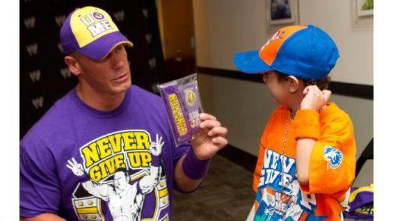 Angel Santos meets his favorite WWE Superstar in Los Angeles.