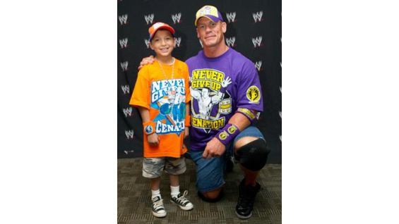 Seth, 8, is from the Make-A-Wish Foundation.