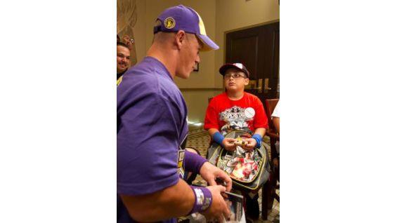 Julian Tanori traveled across the country to meet Cena before Raw!