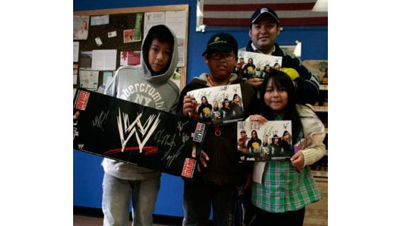 WWE fans donated toys and in return got Superstars' autographs.