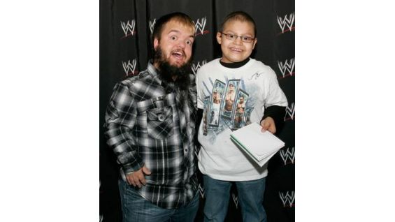Andrew is particularly excited to meet his favorite Superstar, Hornswoggle!