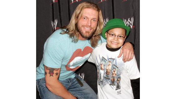 Edge also stops by to say hello to Andrew.