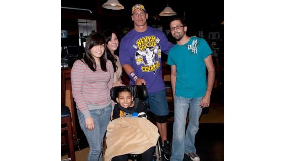 Thanks to Make-A-Wish Foundation, Jose Magna, 13, meets John Cena.
