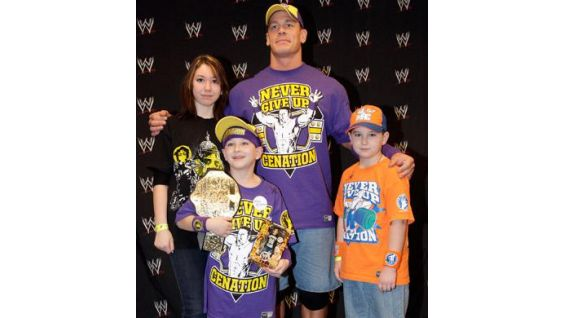 Jesse and his family traveled from Pennsylvania to meet Cena.