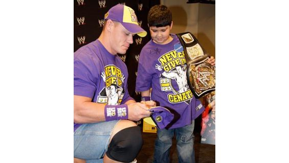 Shayan is Cena's 200th Wish with Make-A-Wish Foundation!