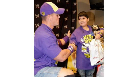 """Shayan and Cena were recently featured on the CBS show, """"The Talk."""""""