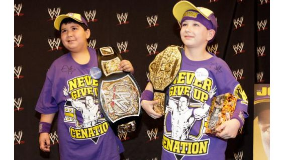 The boys are thrilled to meet Cena and see Raw live in New Orleans.