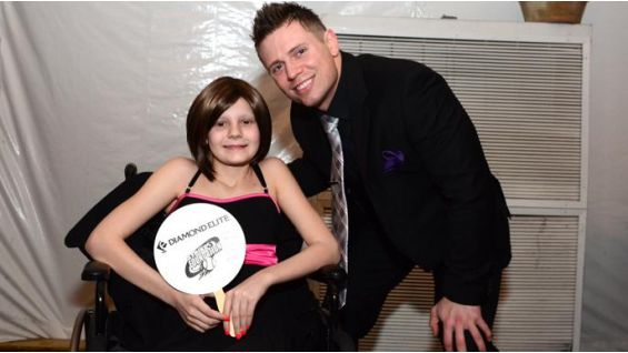 WWE Superstars care! The Miz poses with Casey Ridgway, the recipient of the 2011 Isaias Valentin Courage Award.