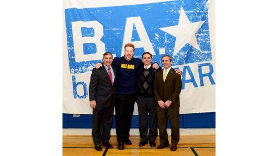 Sheamus meets Connecticut Senator Len Fasano, Rep. David Yaccarino and North Haven FIrst Selectman Michael J. Freda.