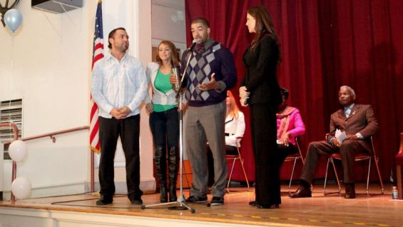 McMahon and the Superstars led the children in the be a STAR Pledge.