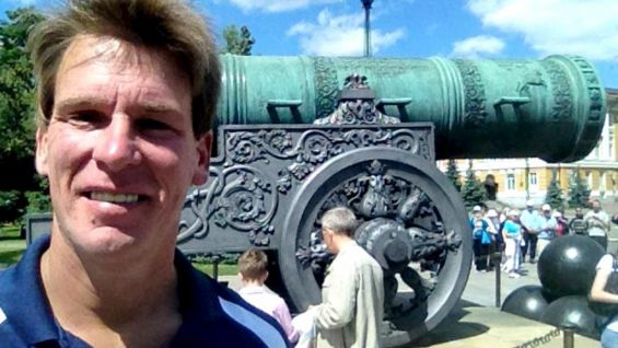 """""""Hey @Play_Rugby_USA representing NYC Rugby with ur shirt inside the Kremlin in front of worlds biggest cannon!"""" from @JCLayfield on Twitter."""
