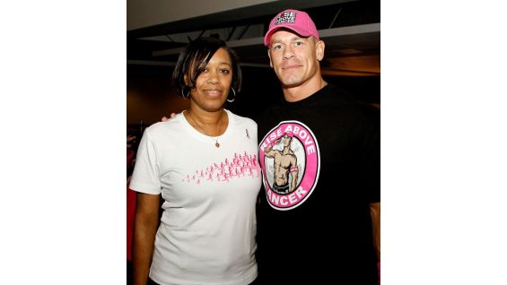 Through donations and sales of John Cena's pink and black gear, WWE raised $1 million for Komen!