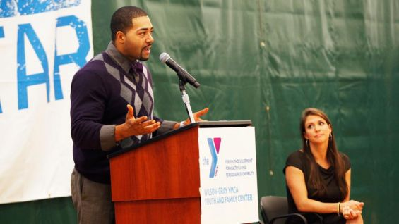 Otunga recalled his own experiences with bullying and explained how the children can help end it.