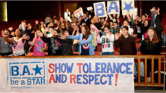 The Connecticut students show their support for be a STAR.