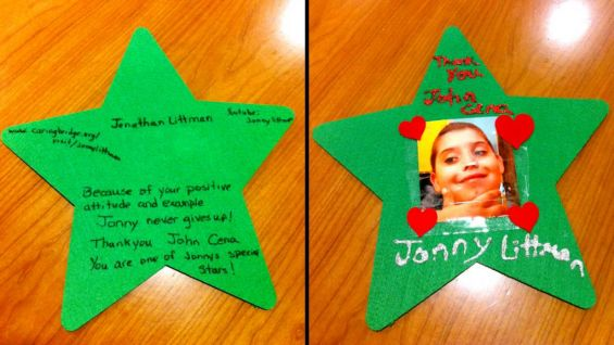 An unforgettable present for the Cenation leader: a personalized thank-you from Jonathan and his parents.