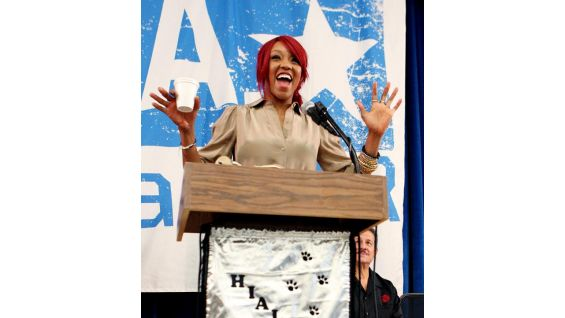 Alicia Fox brings spunk and excitement to the rally.
