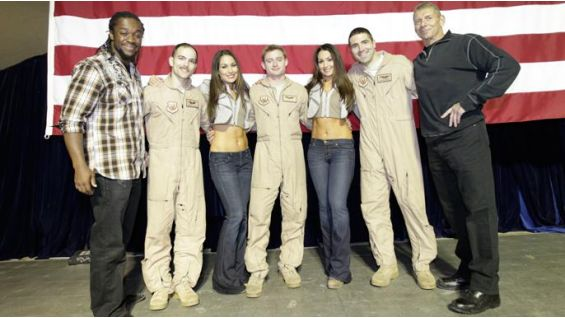 Kofi, The Bellas and WWE CEO Vince McMahon posed for photos and signed autographs for 800 troops.