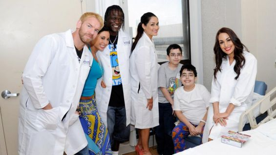 Visits like this are just one of many ways WWE is giving back to the Miami community during WrestleMania Week.