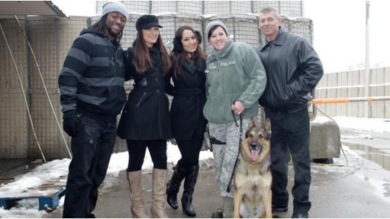 The Superstars also learned about the Armed Forces' highly-trained K-9 dogs ...