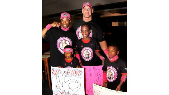 """""""I want to personally thank the WWE Universe for their overwhelming support of Susan G. Komen's fight against breast cancer,"""" Cena said. """"I'm truly honored to lead WWE's charge to rise above cancer and help find a cure."""""""