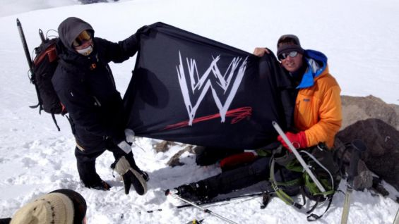 The former World Champion is hoping to plant a WWE flag on each continent's highest summit.