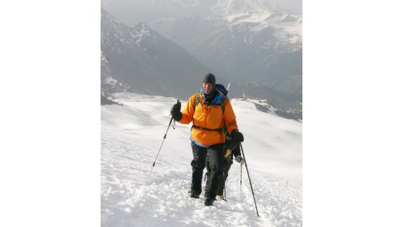 Mt. Elbrus, the highest mountain in Europe, is 18,500 feet tall.