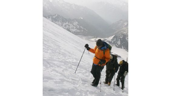 JBL battled with frostbite and hypoxia during the climb.