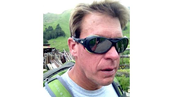 JBL took a fall while climbing. You can see one of the scrapes he received behind his glasses.