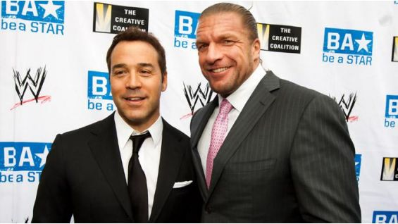 """Triple H with """"Entourage"""" actor Jeremy Piven."""