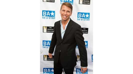 """Jack McBrayer of """"30 Rock"""" smiles on the red carpet."""