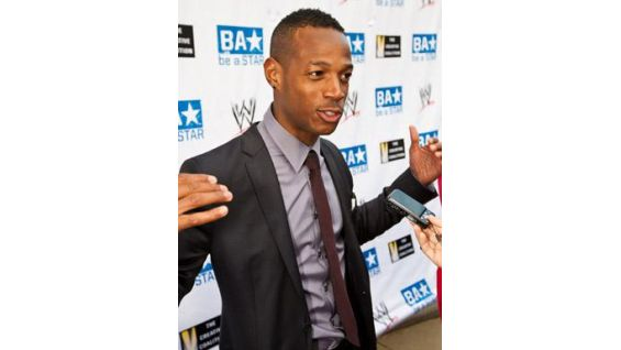 Actor and comedian Marlon Wayans talks to the media.