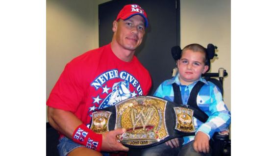 Huntah of Starlight Wish Foundation also meets Cena in Sydney before his first WWE live event.