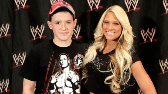 After meeting Jerry, Kelly affirmed that she's dedicated - like many other WWE Superstars - to making many more wishes come true through the Make-A-Wish Foundation. She also met Jordan that day.