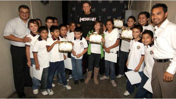The Miz meets children in Monterrey, Mexico, on be a STAR Day.