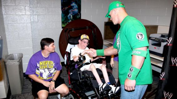 Cody Thoman meets his favorite WWE Superstar, John Cena.
