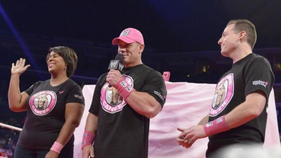 John Cena thanks the WWE Universe for getting the gear and joining the fight against breast cancer.