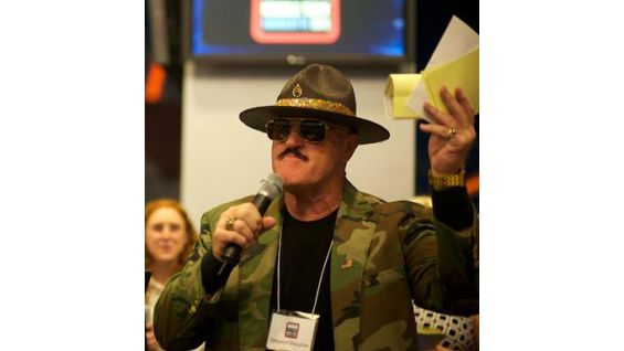 Sgt. Slaughter at the MDA benefit at Bank of America Stadium in Charlotte, N.C.