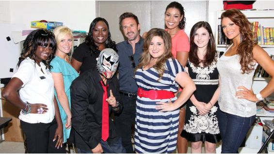 Rey Mysterio, Eve and celebrities kick off the be a STAR rally in Los Angeles.