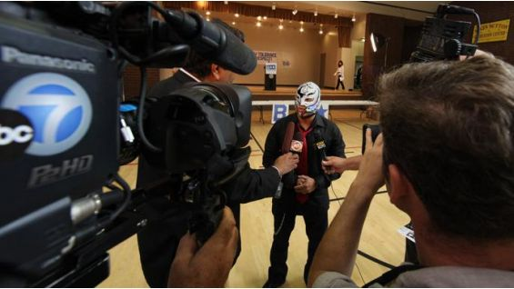 Mysterio talks to local media about the weekend of events at SummerSlam.