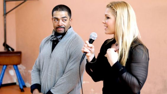 Beth Phoenix and David Otunga visit the I.C. Via Baccano Institute in Italy to speak to nearly 200 students.