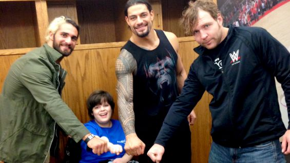 The Shield grants their first individual wish when meeting Jessie from Make-A-Wish.