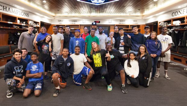 Kassius Ohno and Matt Riddle host a Special Olympics Unified Workout at the Los Angeles Kings practice facility: photos
