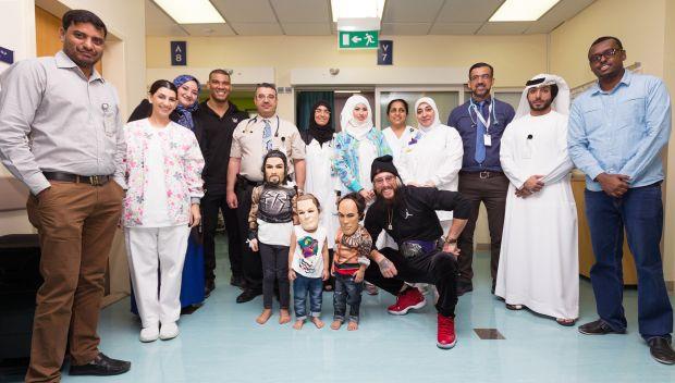Enzo Amore and Jason Jordan visit the Shaikh Khalifa Medical City: photos