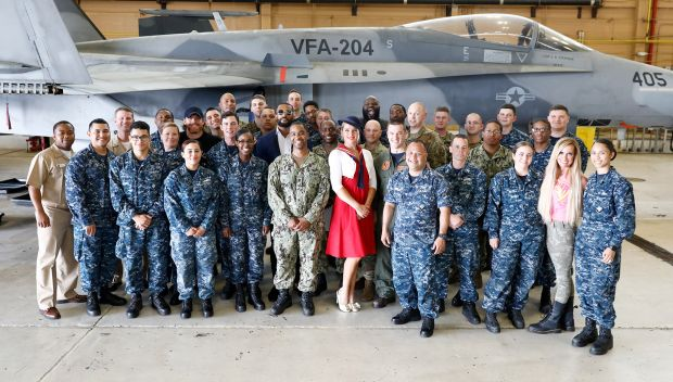 Superstars visit Naval Air Station Joint Reserve Base during WrestleMania Week: photos